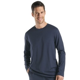 Hanro Night & Day Haut � Manches Longues Homme - Noir 075431-1162 Small