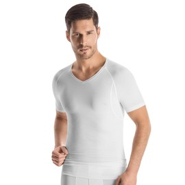 Hanro Urban Touch Haut � Manches Courtes Col-V Homme - Blanc 073133-0101 Small