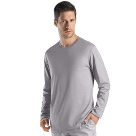 Hanro Night & Day Haut � Manches Longues Homme - Gris 075431-1162 Small