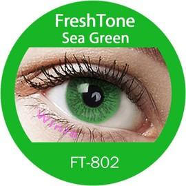 Lentilles De Contact De Couleur Freshtone Sea Green Tons 365j