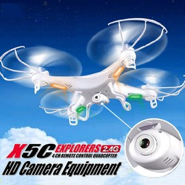 X5c1 Explorers 4ch 6-Axis Rc Quadcopter Drone 4 Go Hd + Cam�ra 2.0mp Rtf Blanc