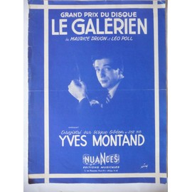 LE GALERIEN Yves Montand