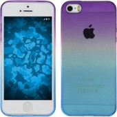Coque En Silicone Pour Apple Iphone 5 / 5s - Ombr� Design:04 - Cover Phonenatic Cubierta + Films De Protection