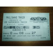 Ticket D'entree Au Popb De Paris En 1995 Du 13eme Supercross Tracer