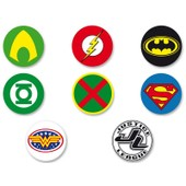 Lot Pack Badge Button �25mm Justice League Of America Jla Dc Comics
