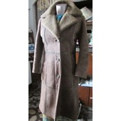 Manteau Peau De Mouton Retourn�e Made In Franc/Creations Paris France T36