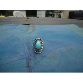 Bague Tib�taine Turquoise Ovale