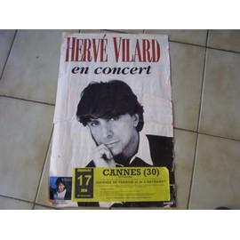 HERVE VILAR AFFICHE CONCERT D'ORIGINE