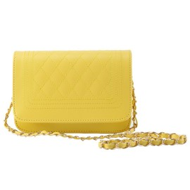 Femme Mode Sac � Main �paule Bandouli�re Cha�ne Sacoche Pochette Handbag Jaune