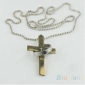 Homme Punk Bracelet Et Bague Croix Avec Mots De La Bible Acier Inoxydable Dor�