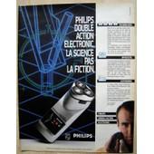 Publicit� Papier - Rasoir Electronic Philips De 1985