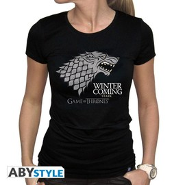 T-Shirt Game Of Thrones Winter Is Coming Stark Logo Femme - M
