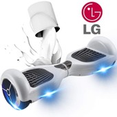 Skateboard Hoverboard Smart Balance Wheel Monocycle Auto Equilibrage Lg Batterie Blanc 6.5