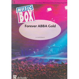 Forever abba gold - music box Partition - Quatuor pour instruments à vent (ensemble variable)