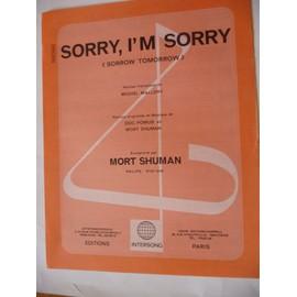 SORRY,I'M SORRY Mort Shuman