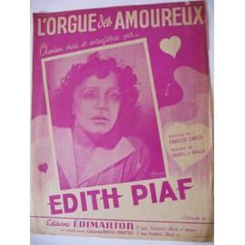 L'ORGUE DES AMOUREUX  Edith Piaf