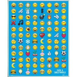 Mini Poster Encadr�: Smileys - Emoticon (50x40 Cm), Cadre Plastique, Blanc