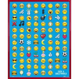 Mini Poster Encadr�: Smileys - Emoticon (50x40 Cm), Cadre Plastique, Rouge