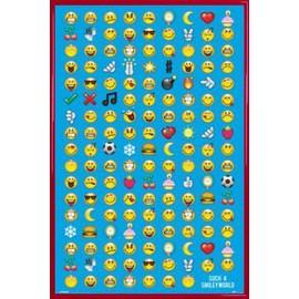 Poster Encadr�: Smileys - Emoticons (91x61 Cm), Cadre Plastique, Rouge