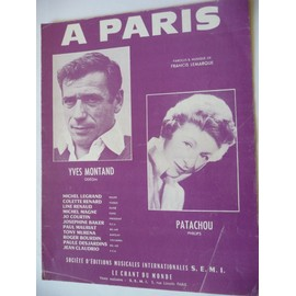 A PARIS yves Montand Patachou