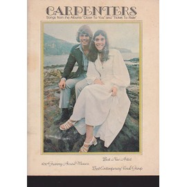 "carpenters - songs from the albums ""close to you"" & ""ticket to ride"" - partition piano voix accords"
