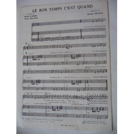 LE BON TEMPS C'EST QUAND Michel Sardou
