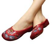 Chaussons Brod�es Chinoises De Coton Sandales Pantoufles Babouches