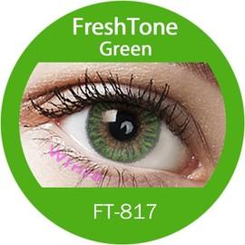 Lentilles De Contact De Couleur Freshtone Green 3 Tons 365j