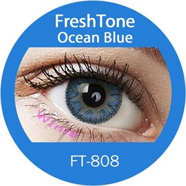 Lentilles De Contact De Couleur Freshtone Ocean Blue 3 Tons 365j