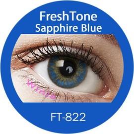 Lentilles De Contact De Couleur Freshtone Sapphire Blue 3 Tons 365j