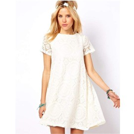 Robe Dentelle Vrac Sweet Aimable Manches Courtes Femmes