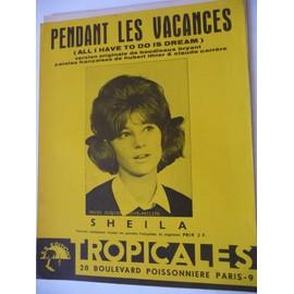 PENDANT LES VACANCES Sheila