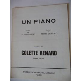 UN PIANO    Colette Renard