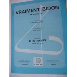 VRAIMENT BIDON Dick rivers