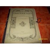 L Art Pour Tous Encyclopedie De L Art Industriel Et Decoratif 17 Eme Ann�ee 1878 de reiber et sauvageot