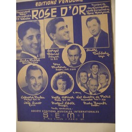 ROSE D'OR Sacha Distel André Dassary