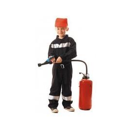 D�guisement Pompier Enfant 7-9 Ans (Combinaison + Casquette)
