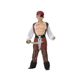 D�guisement Pirate Muscle Enfant 7-9 Ans (�p�e Et Chaussures Non Incluses)