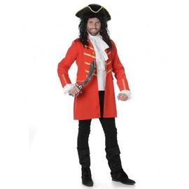 D�guisement Pirate Rouge Homme, Taille Small
