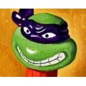 Pez /Tortue Ninja Donatello En Col�re /Pied Orange,Bandeau Violet