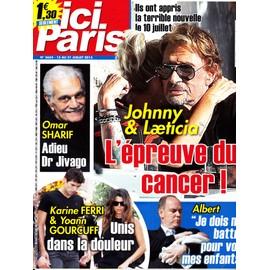 Ici Paris 3654 (Johnny & Laeticia / Omar Sharif / Karine Ferri / Yoann Gourcuff / Albert De Monaco)