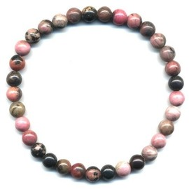 Bracelet En Rhodonite Boules 6mm