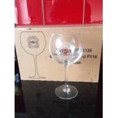 Lot De 6 Superbe Verres Martini A Pieds No Ricard