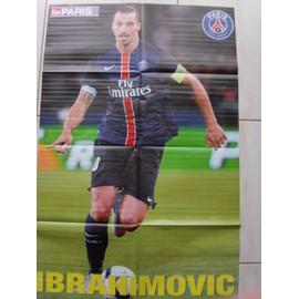 Poster Football Zlatan Ibrahimovic Paris Saint Germain 89cm / 58cm Verso Serge Aurier Paris Saint Germain