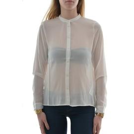 Chemisier Only Onlopalette L/S Plisse Shirt Wvn Blanc