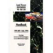 Land Rover Defender 90 110 130 Handbook 1991-Feb.1994 My