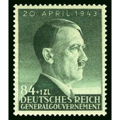 Pologne, Occupation Allemande, 1943, General Gouvernement, 54�me Anniversaire Chancelier Hitler, Yv. 114, Neuf*