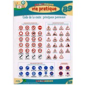 Fiche M�mo Recto-Verso N�89 - Vie Pratique: Code De La Route - Carte Plastifi�e de Mfg Education