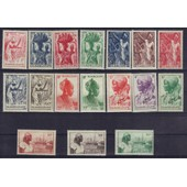 Guadeloupe Colonie Francaise 1947 : Canne � Sucre/Ananas/Caf�/Guadeloup�enne/Port De Basse-Terre - S�rie Enti�re De 17 Timbres Neufs **