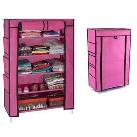 Armoire �tag�re Chaussures Rangement Rose Pm 90x60x30